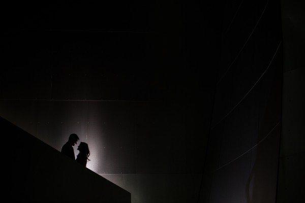 couple at walt disney concert hall