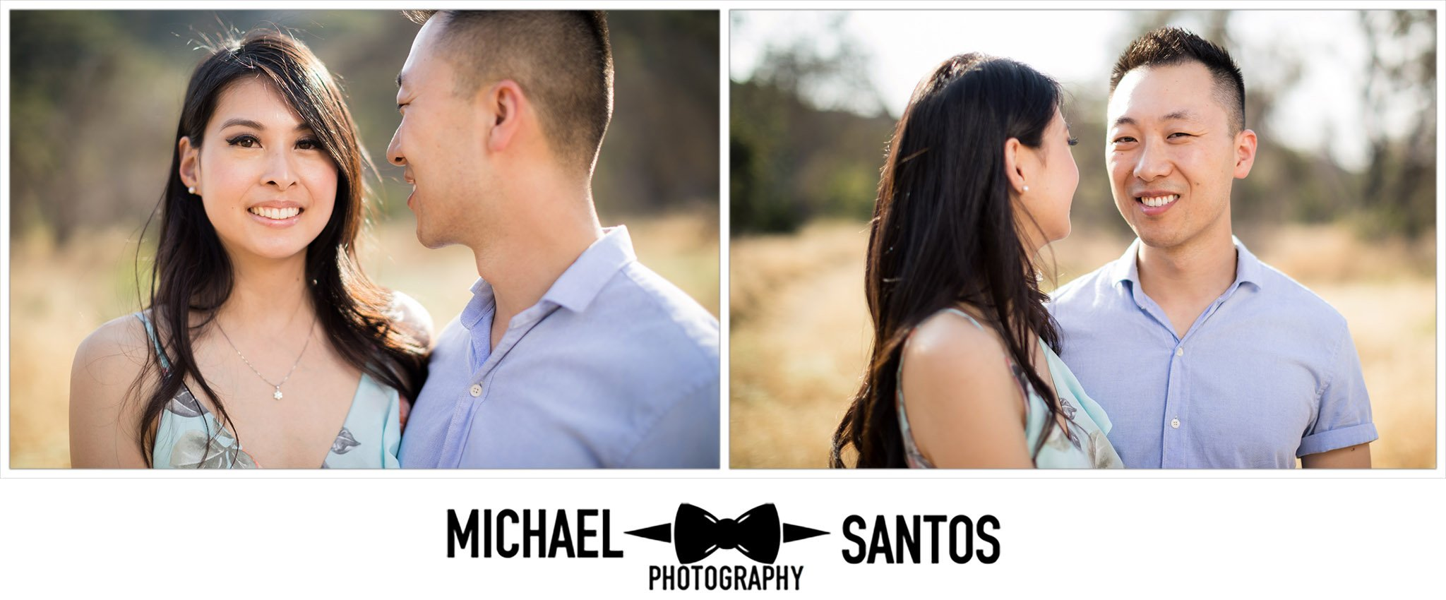 close up portraits of engaged couple at their caspers wilderness park engagement photography session