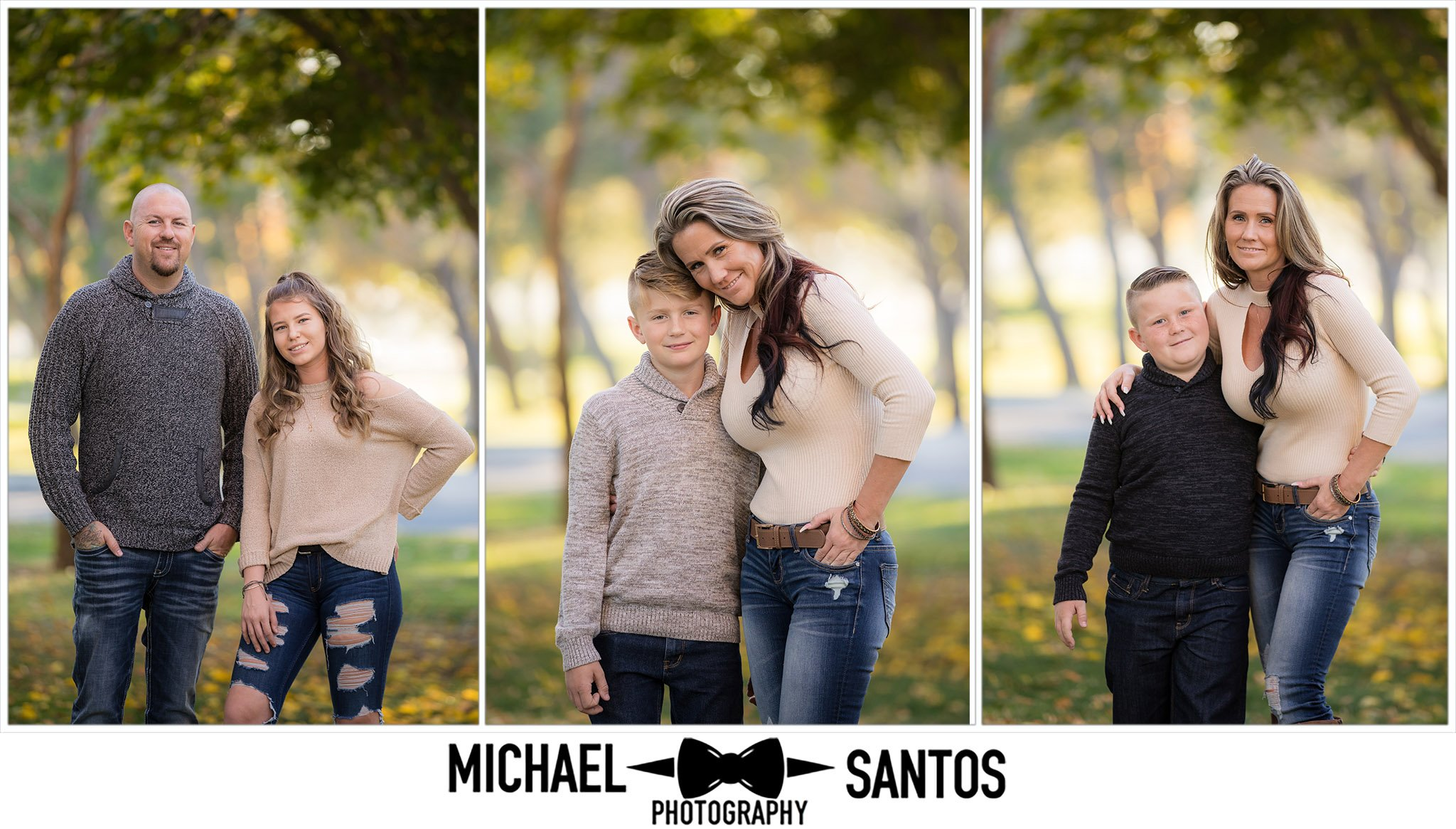 parents standing with their kids during their lancaster family photography portraits